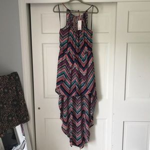 High low colorful dress